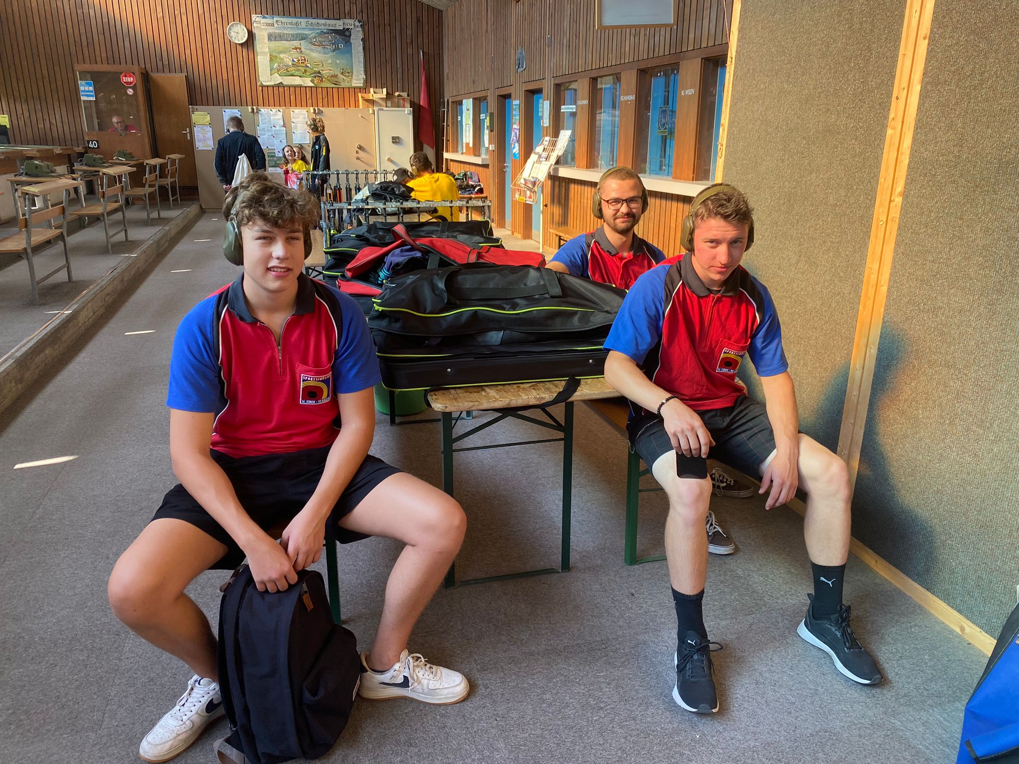 Jungschützengruppe am kantonalen Finale 1