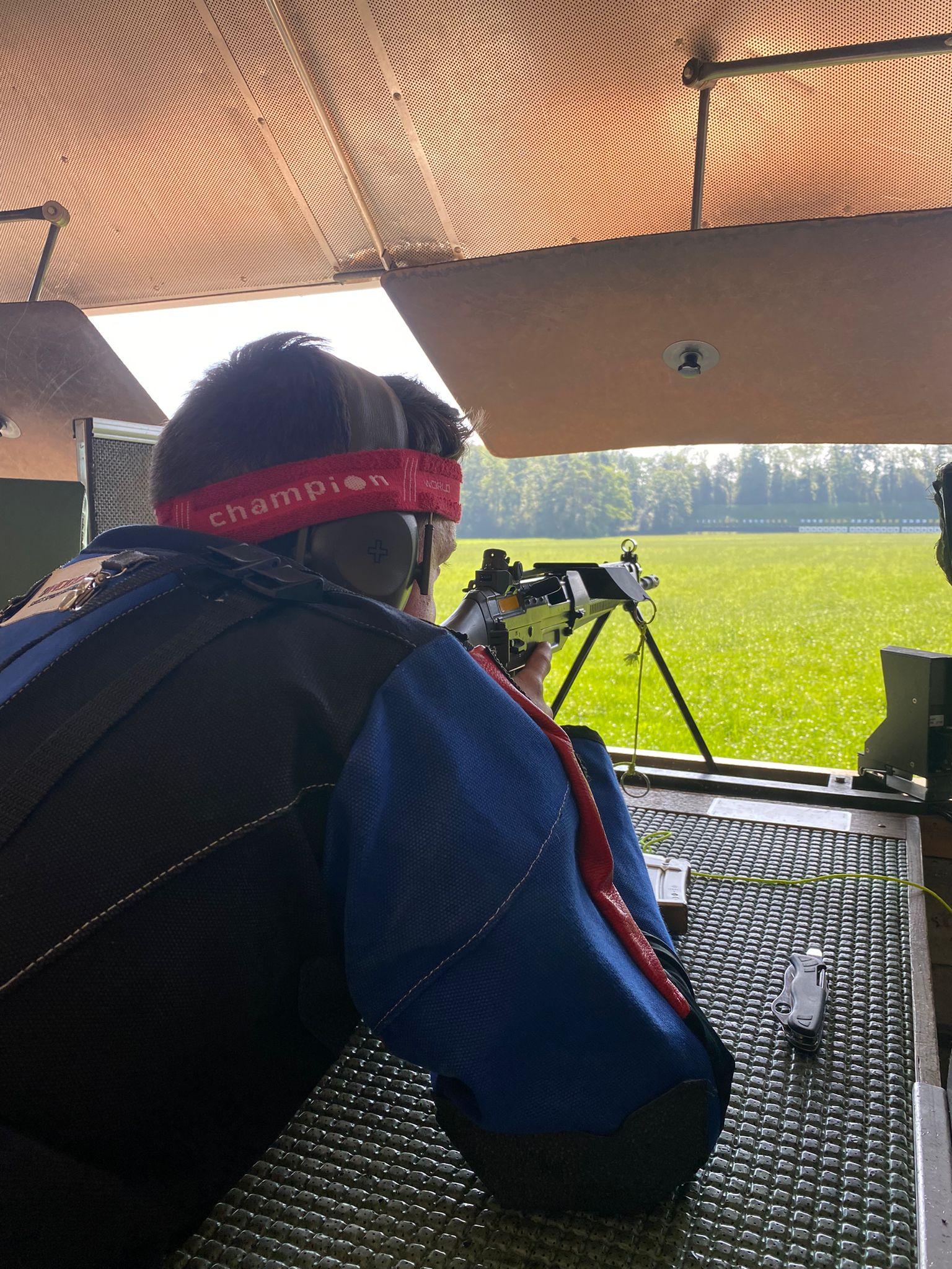 Jungschützengruppe am kantonalen Finale 9